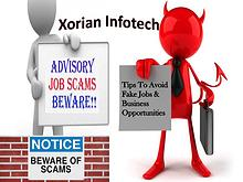 Xorian Infotech - Tips To Avoid Fake Jobs & Business Opportunities