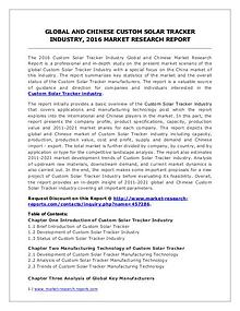 Custom Solar Tracker Market Share Analysis and Forecasts 2021