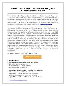 Global Load Cell Industry with Focus on Chinese Market Forecasts 2020