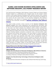Business Intelligence (BI) Software Market Trends Forecasts to 2021