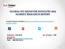 HD Monitor Market Shares for Global Industry 2016 Analysis Report
