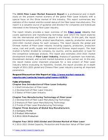 Fiber Laser Market Analysis Focus on Chinese Industry 2016 Report