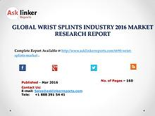 Wrist Splints Market Chain Structure Analysis and Forecasts to 2020