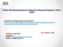 Welding Equipment Market Competition Pattern 2016 Analysis Report