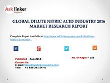 Dilute Nitric Acid Market Share, Demands, Trend and Forecasts to 2020