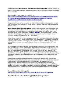 Non-Invasive Prenatal Testing Market Analysis and NIPT Forecasts 2021