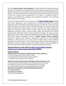 Wind Turbine Tower Market Current Dynamics, Analysis & Forecast 2021