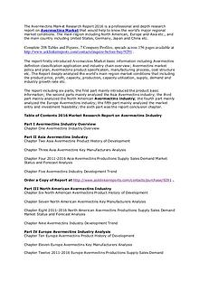 Avermectins Market Investment Feasibility, Analysis & Forecasts 2020