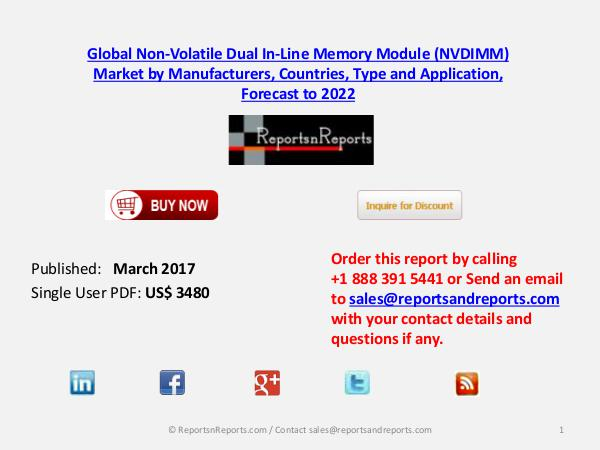 Non-Volatile Dual In-Line Memory Module (NVDIMM) Market March 2017
