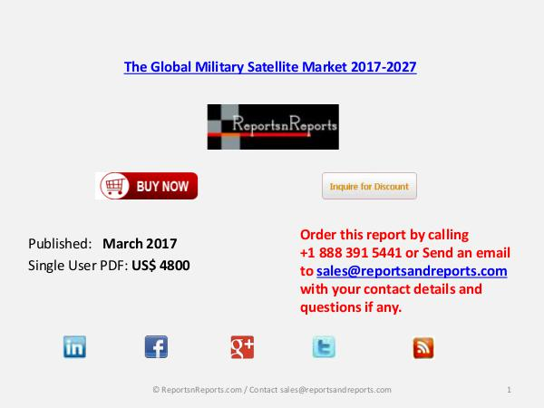 The Global Military Satellite Market 2017-2027 March 2017