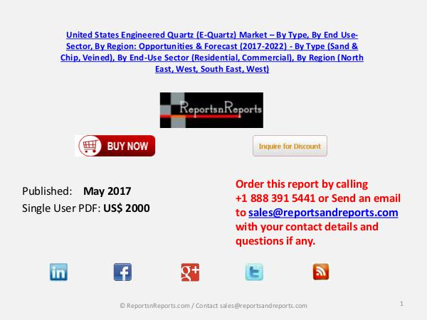 United States Engineered Quartz (E-Quartz) Market May 2017