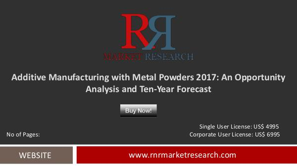 Additive Manufacturing with Metal Powders Market Forecast to 2027 Mar 2017