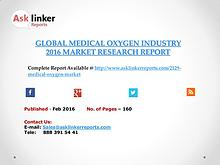 Global Medical Oxygen Market 2016-2020 Report