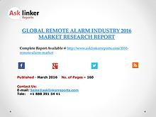 Global Remote Alarm Market 2016-2020 Report