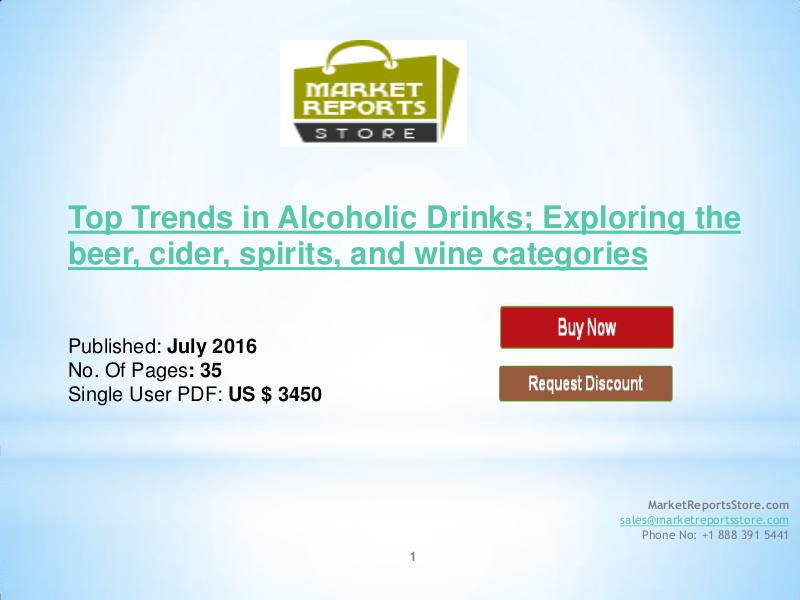Top Trends in Alcoholic Drinks Market July 2016