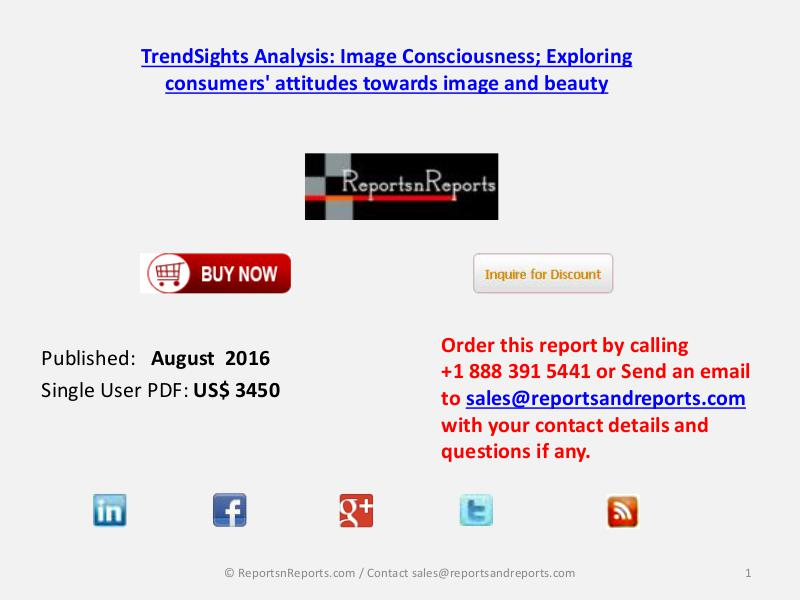 Image Consciousness Market August 2016