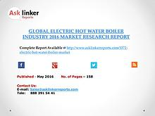 Global Electric Hot Water Boiler Market 2016-2020 Report