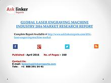 Laser Engraving Machine Market 2016-2020 Report