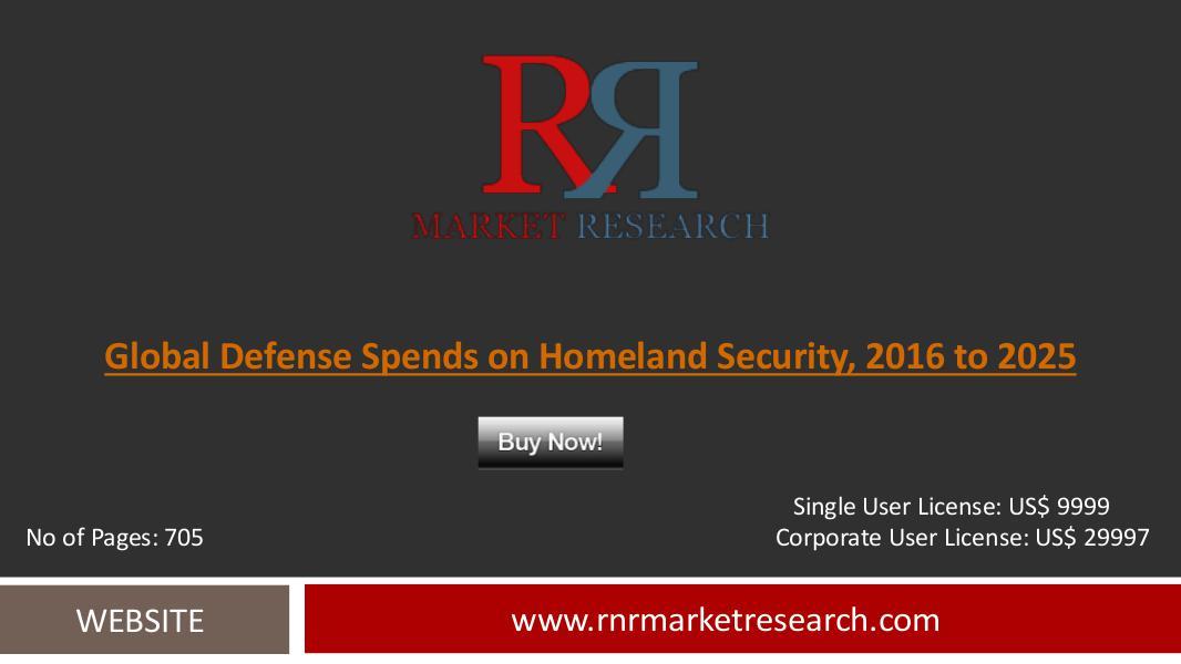 Defense Spends on Homeland Security Market (HLS) Forecast  2025 Aug 2016