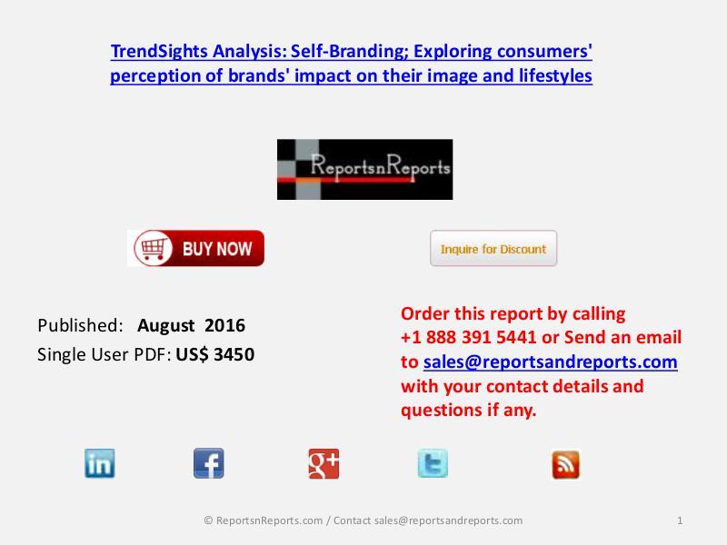 Self-Branding Market 2016 Report Industry Trends Analysis & Forecast Aug 2016