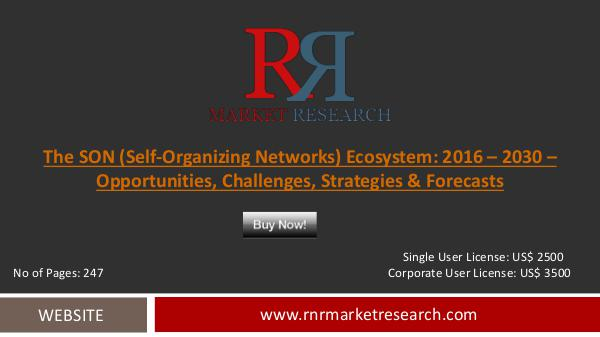 SON (Self-Organizing Networks) Ecosystem Market Oct 2016