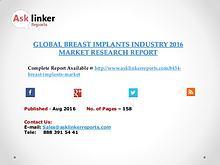 Global Breast Implants Market 2016-2020