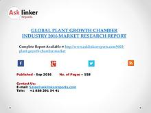 Plant Growth Chamber Market 2016-2020 Report