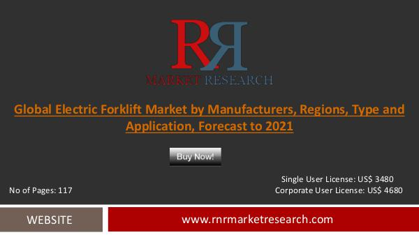 Electric Forklift Market Global Research and Analysis 2021 Dec 2016