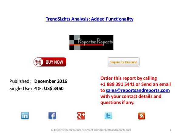 Added Functionality TrendSights Analysis New Research report Dec 2016