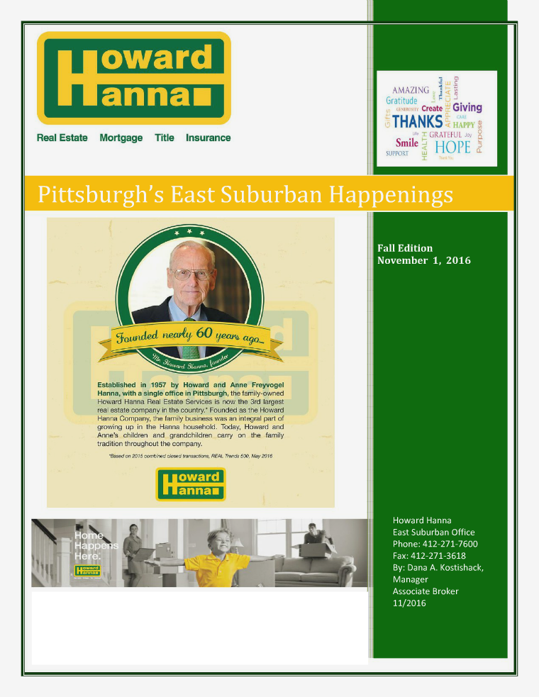 Howard Hanna East Suburban Happenings Fall Edition