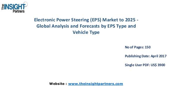 Electronic Power Steering Market forecast to 2025 |The Insight Partne Electronic Power Steering Market forecast to 2025