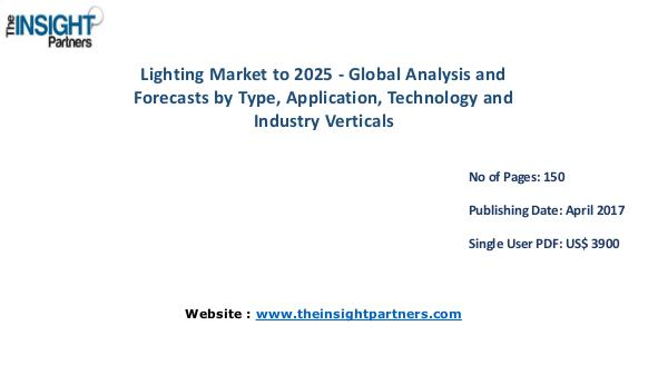 Lighting Market Analysis & Trends - Forecast to 2025 Lighting Market Analysis & Trends - Forecast