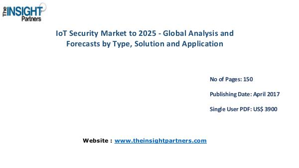IoT Security Market is expected to reach US$ 30.9 Bn by 2025 IoT Security Market is expected to reach US$ 30.9