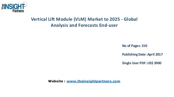 Vertical Lift Module Market is expected to reach US$ 2301.0 million b Global Vertical Lift Module Market is expected to