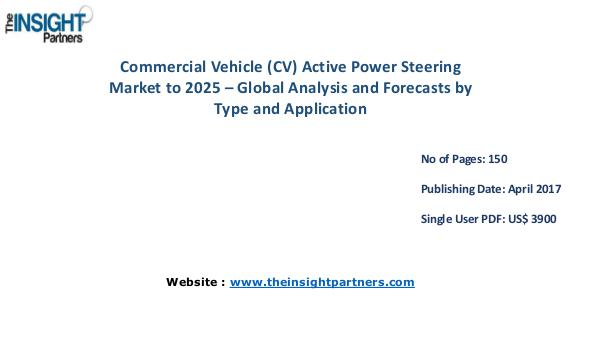 Commercial Vehicle (CV) Active Power Steering Market to 2025 Commercial Vehicle (CV) Active Power Steering Mark