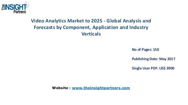 Video Analytics Market Analysis & Trends - Forecast to 2025 Global Video Analytics Market to 2025