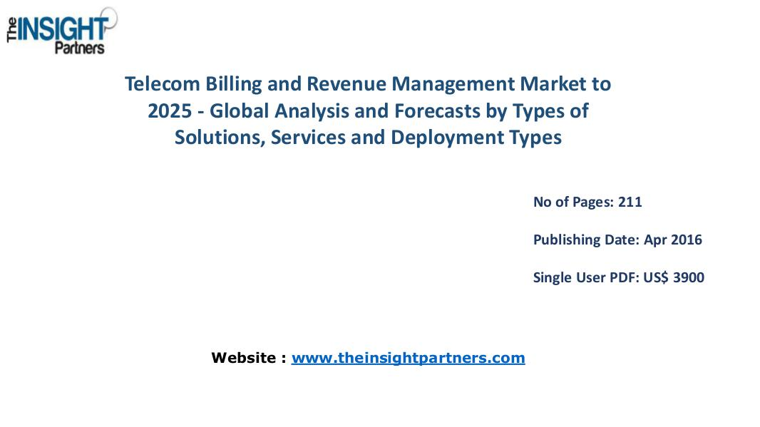 Telecom Billing and Revenue Management Market is set to grow at a CAG Telecom Billing and Revenue Management Market