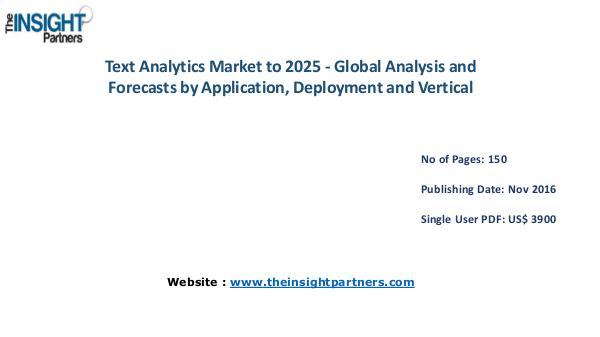 Text Analytics Market Trends, Business Strategies and Opportunities 2 Text Analytics Market Trends, Business Strategies