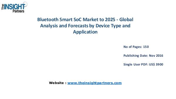 Bluetooth Smart SoC Market Outlook 2025 |The Insight Partners Bluetooth Smart SoC Market Outlook 2025 |The Insig