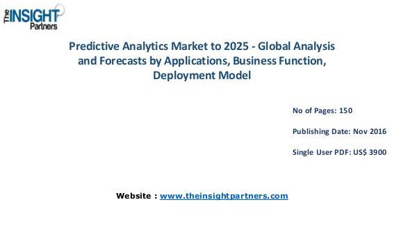 Predictive Analytics Market Outlook 2025 |The Insight Partners Predictive Analytics Market Outlook 2025 |The Insi