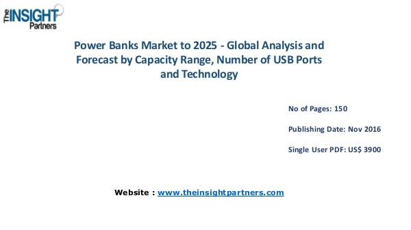 Power Banks Market Outlook 2025 |The Insight Partners Power Banks Market Outlook 2025 |The Insight Partn