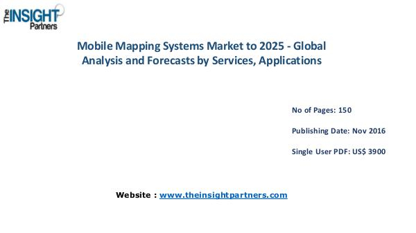 Mobile Mapping Systems Market Outlook 2025 |The Insight Partners Mobile Mapping Systems Market Outlook 2025 |The In