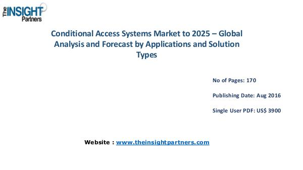Conditional Access System Market Outlook 2025 |The Insight Partners Conditional Access System Market Outlook 2025 |The