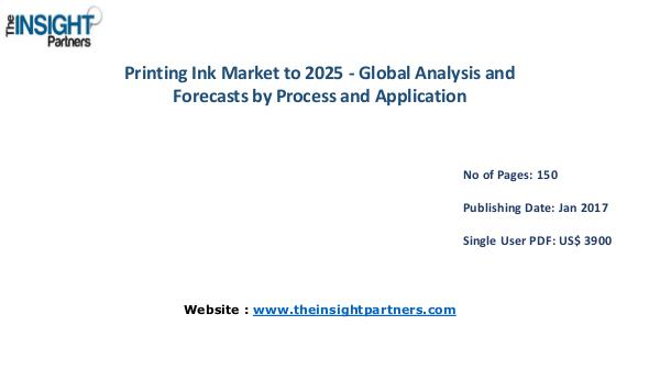 Printing Ink Market Outlook 2025 |The Insight Partners Printing Ink Market Outlook 2025 |The Insight Part