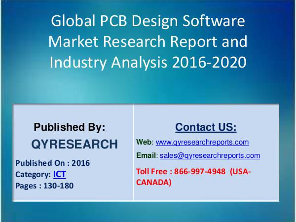 Global PCB Design Software Industry 2017, Research