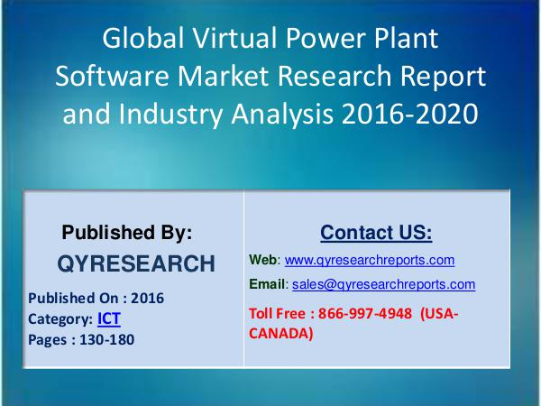 Global Virtual Power Plant Software 2016 Market