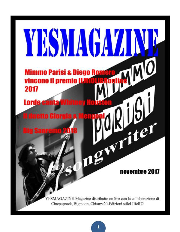 YESMAGAZINE novembre 2017 The winners are Parisi & Romero.
