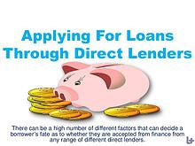 Applying For Loans Through Direct Lenders