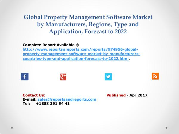 Property Management Software Market Growth and Development Overview Apr 2017