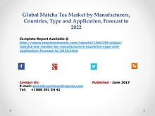 Global Matcha Tea Market Size, Share and Revenue during 2017-2022